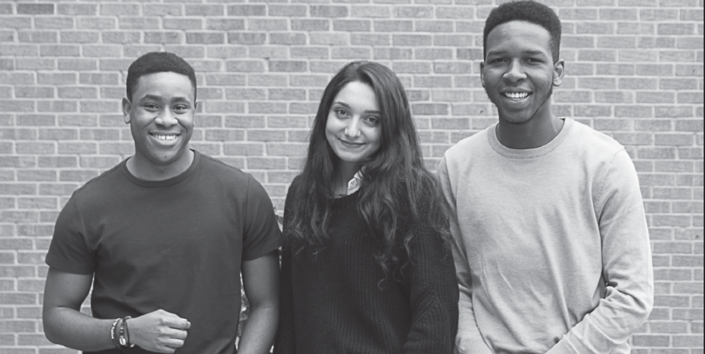 Semifinalists for the JKC Scholarship- (left) Bryan Akahara, (center) Aysegul Ates and (right) Desmond Orgazi.