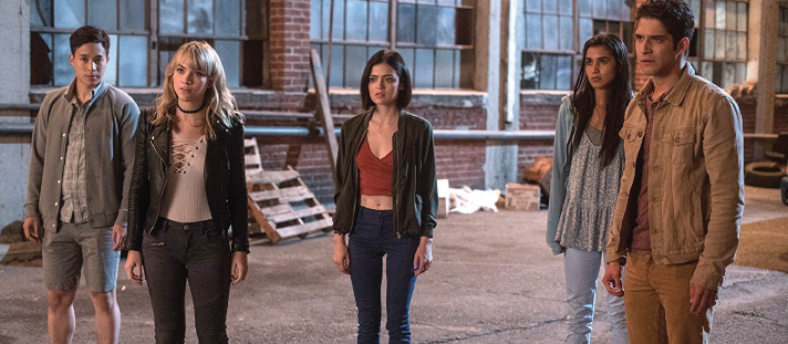 "Hayden Szeto, left, Violett Beane, Lucy Hale, Sophia Ali and Tyler Posey in ""Truth or Dare."""
