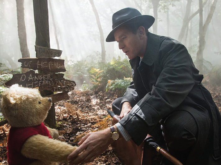 """Winnie the Pooh, voiced by Jim Cummings, and Ewan McGregor in """"Christopher Robin."""""""