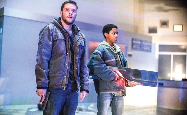 "Jack Reynor, left, and Myles Truitt portray distraught brothers in ""Kin""."