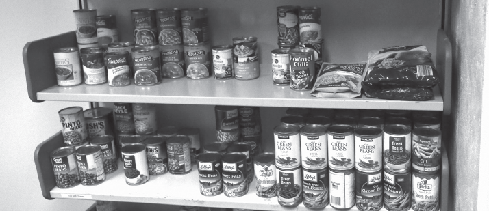 The food pantry is located in El Paso Hall, Room E070 and is open to everyone in need.
