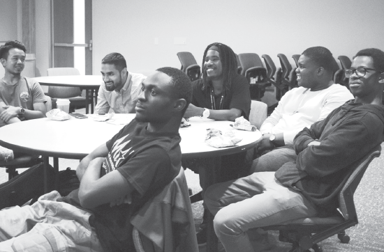 Members of the Male Achievement Program at a recent meeting.
