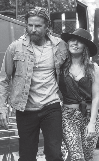 "Cooper, Lady Gaga in ""A Star is Born."""
