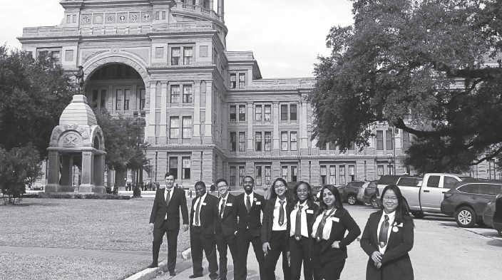 Richland Student Government Association delegates at the Texas capitol on Jan. 30.