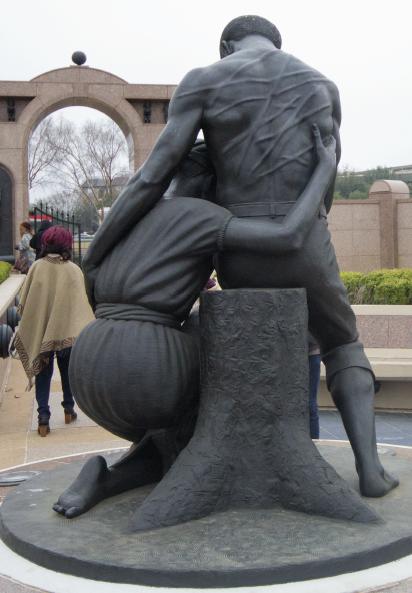 Sculpture by David Newton at Freedmen's Cemetery in Uptown Dallas.