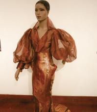 A dress inspired by performer Eartha Kitt.