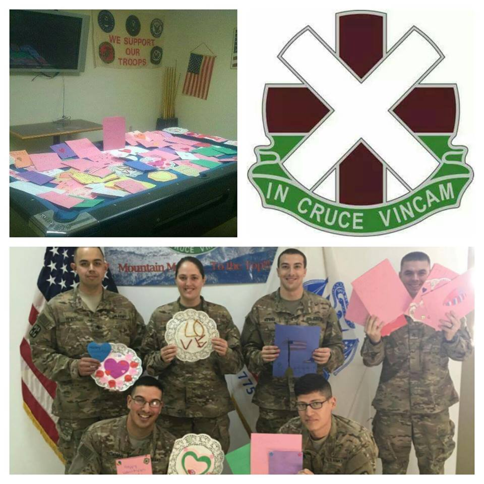 2016 Valentines Cards/Letters for 13th CSH - Kuwait