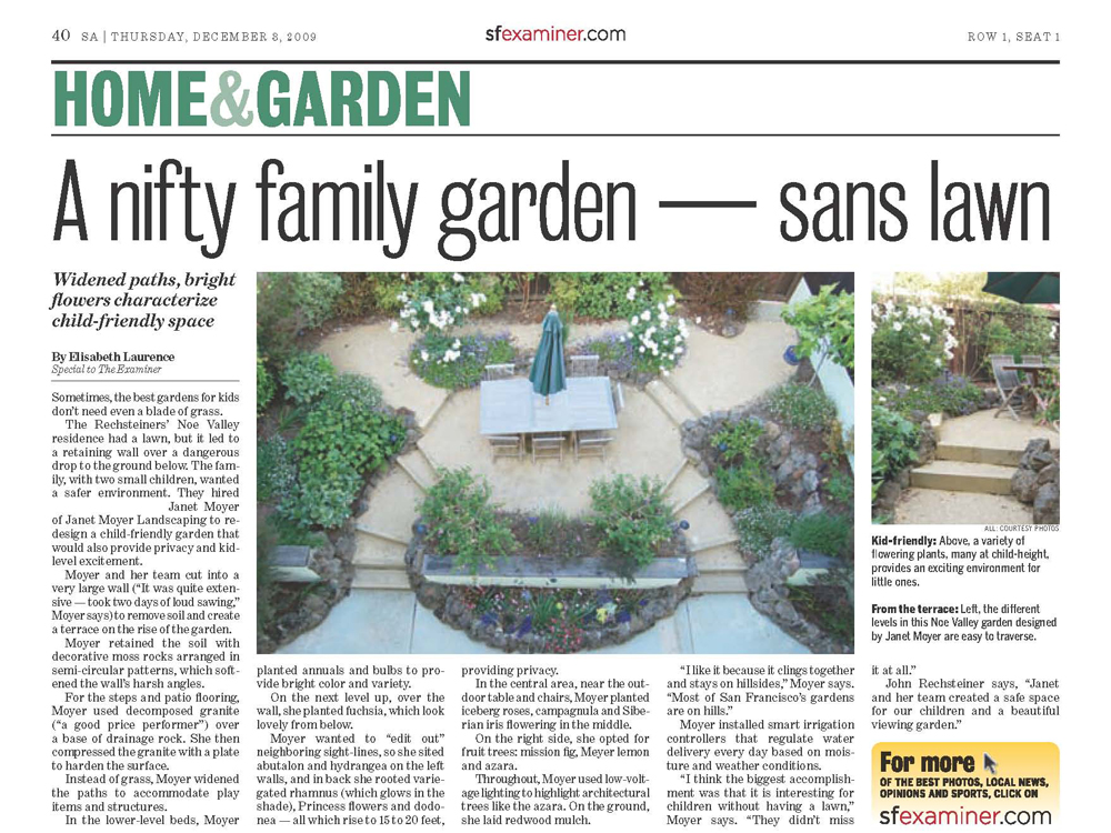 A nifty family garden sans lawn janet moyer landscaping for Nifty family