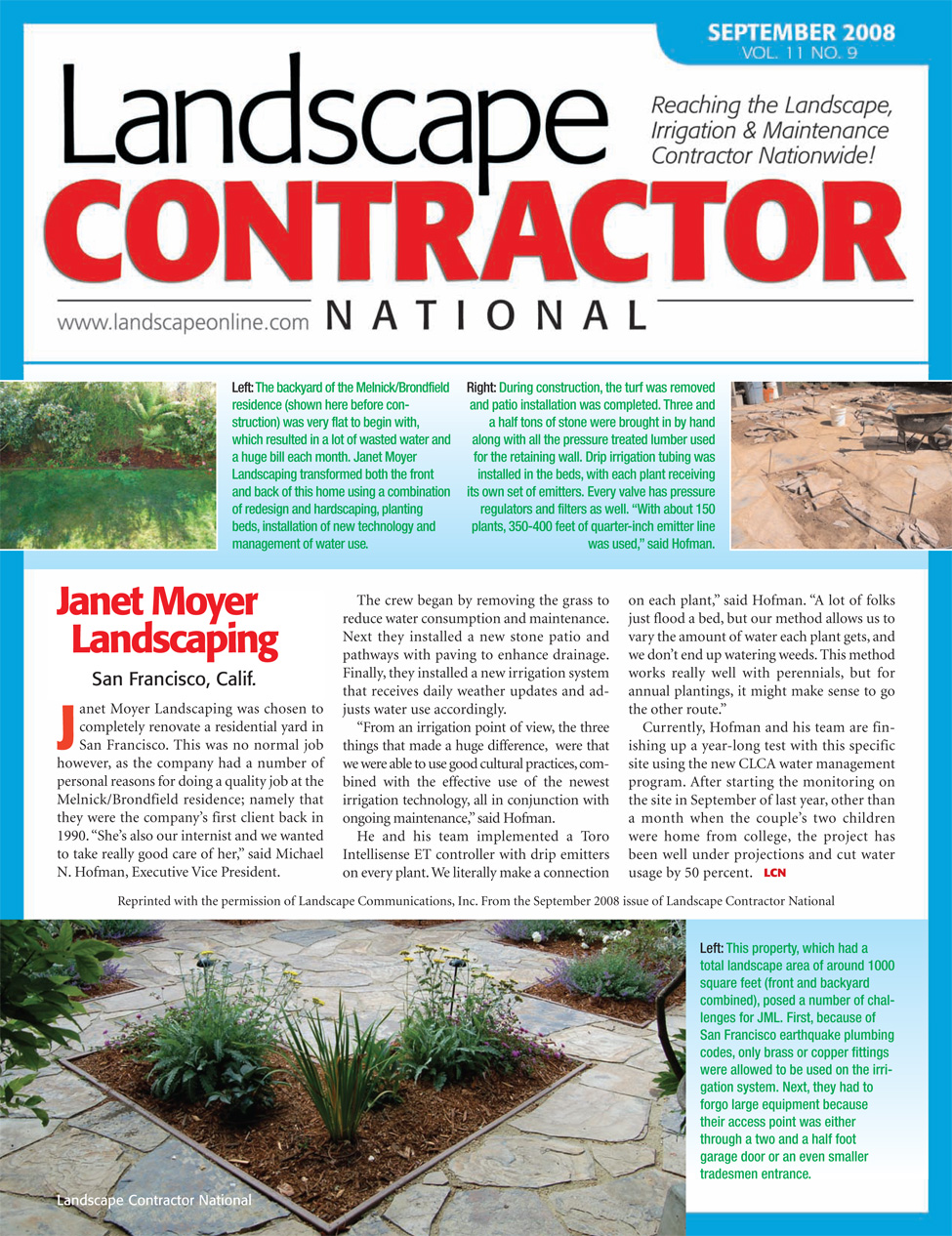November 11, 2015 Landscape Contractor National - At The Forefront: Four California Smart Irrigation Projects — Janet