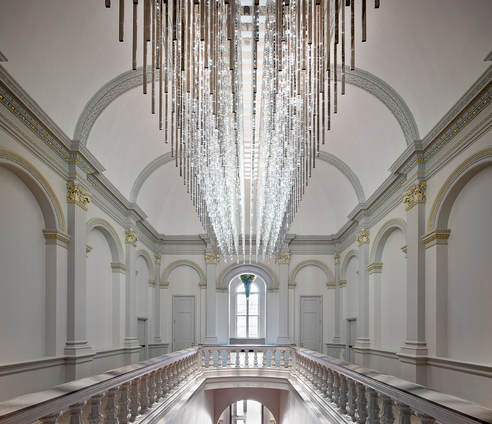 Leo Villareal's  Volume  above the Renwick Gallery's grand staircase