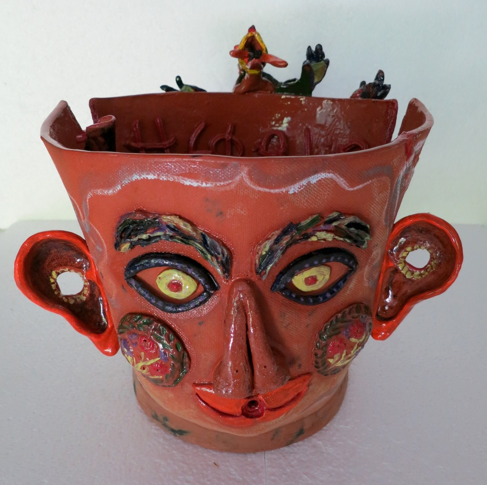 Hephaia, Her Fire, mixed media earthenware, front view.jpg