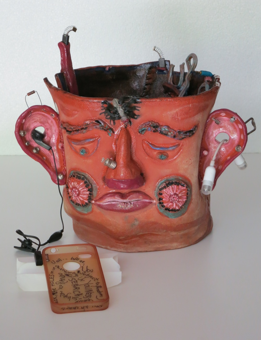 U R Subject to Random Search, mixed media earthenware, front view_1470.jpg
