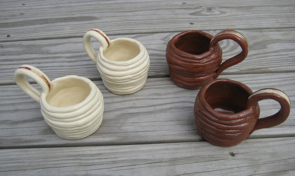 Coiled mugs