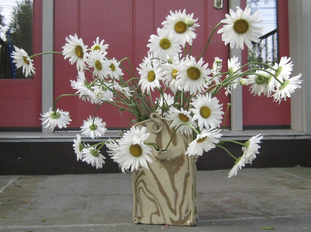 Marbelized clocktower vase