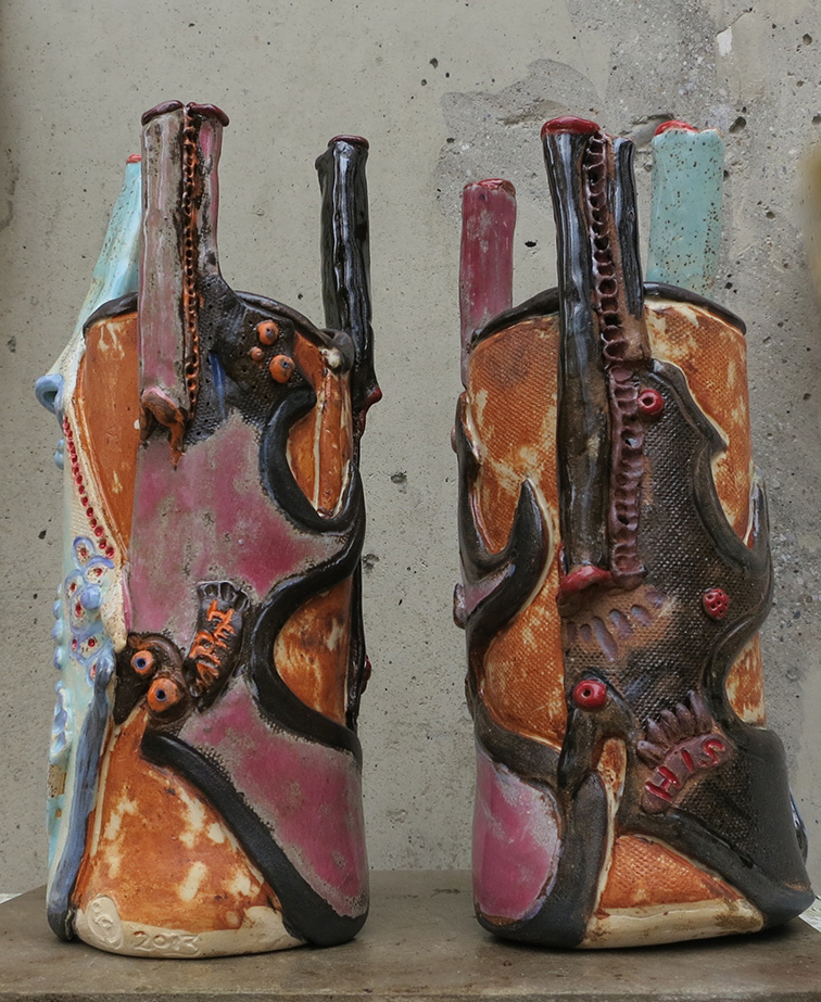 Gun vases (1)
