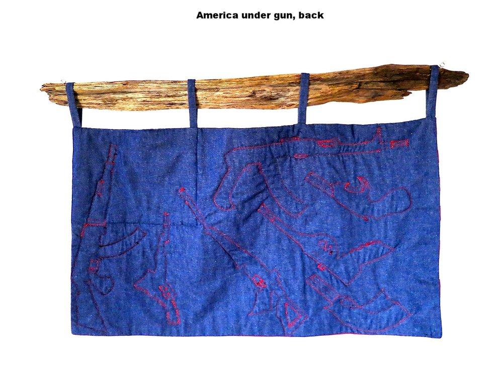 America under gun, back