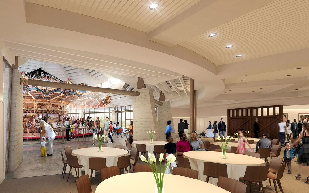 Rendering of the Ballroom looking into the carousel pavilion
