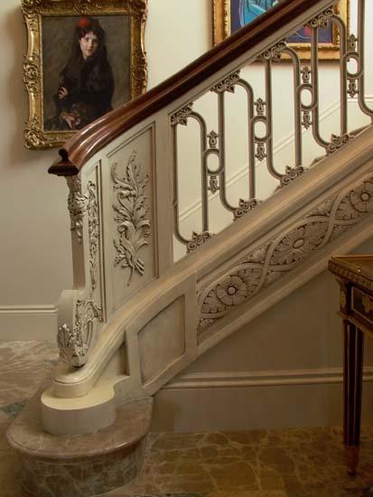 Cast Interior Stair Railing