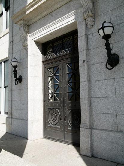 Cast Bronze Entry Door and Fixtures