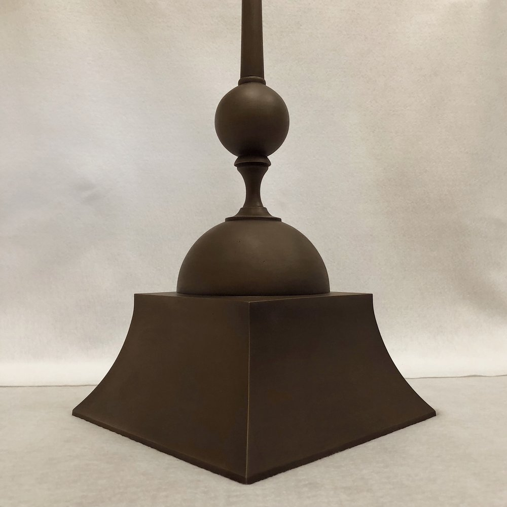 The fabricated finial was finished with a dark statuary finish.