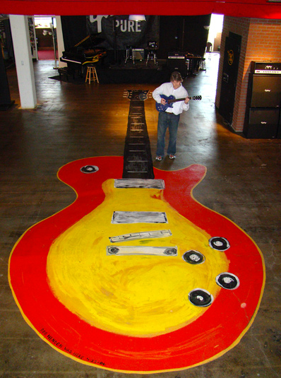 35 foot floor painting at Gibson Headquarters Nashville