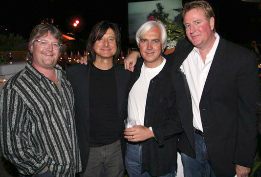 (from left to right) Rob, Steve Perry from the band Journey, Bob Baffert, & Randy Spendlove