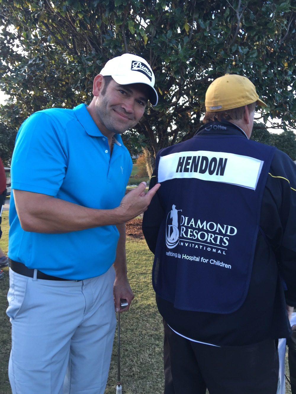 Rob and Johnny Damon, Major League outfielder who played for the Boston Red Sox and New York Yankees, played golf together to raise money for Florida Hospital for Children