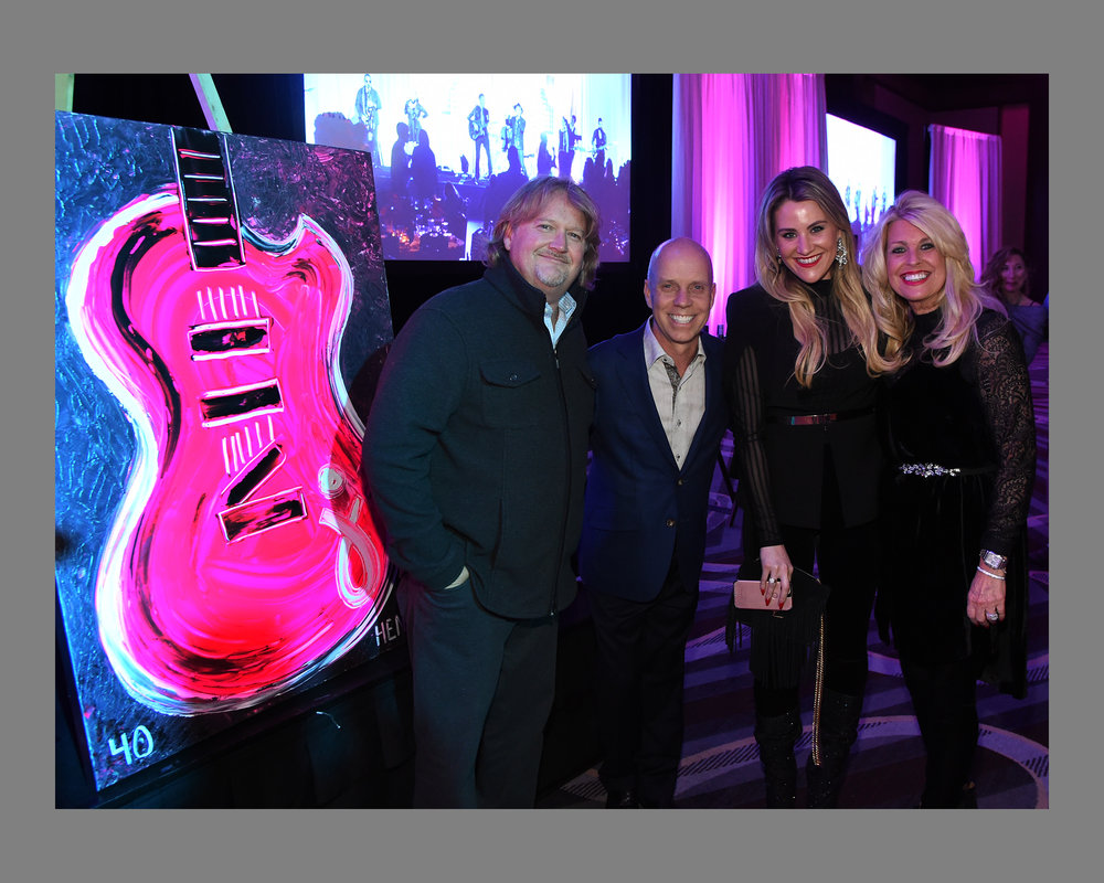 Big Night for Scott Hamilton Cares Foundation with the winning bidders of Rob's painting