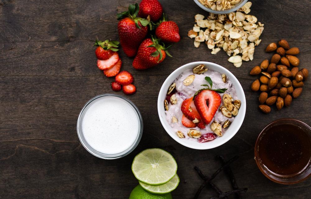Strawberry Yogurt with Honey Cinnamon Almonds.jpg