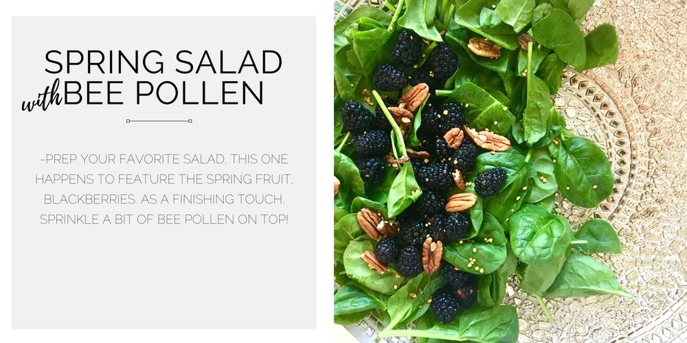spring_salad_with_bee_pollen_curated_health_coach