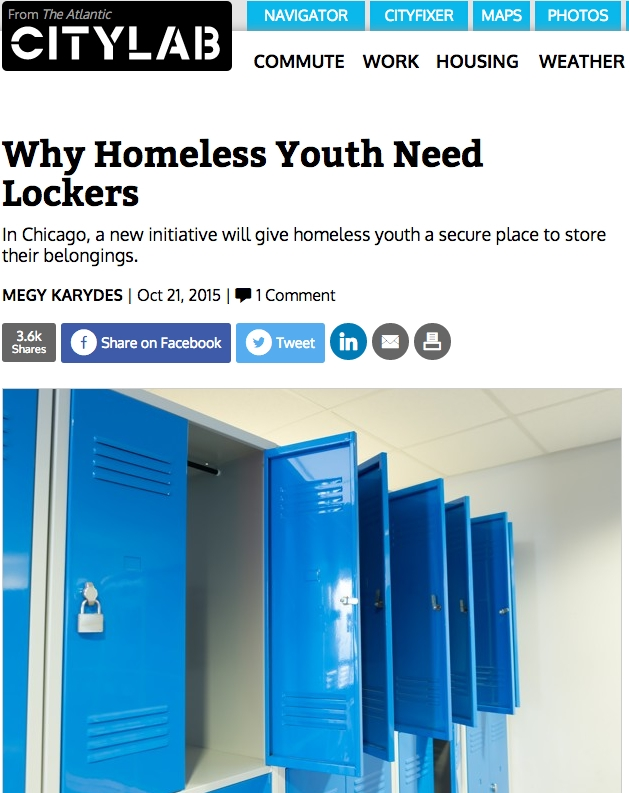 Why Homeless Youth Need Lockers