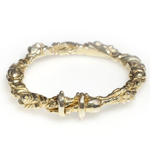 Green Gold Floral Bracelet