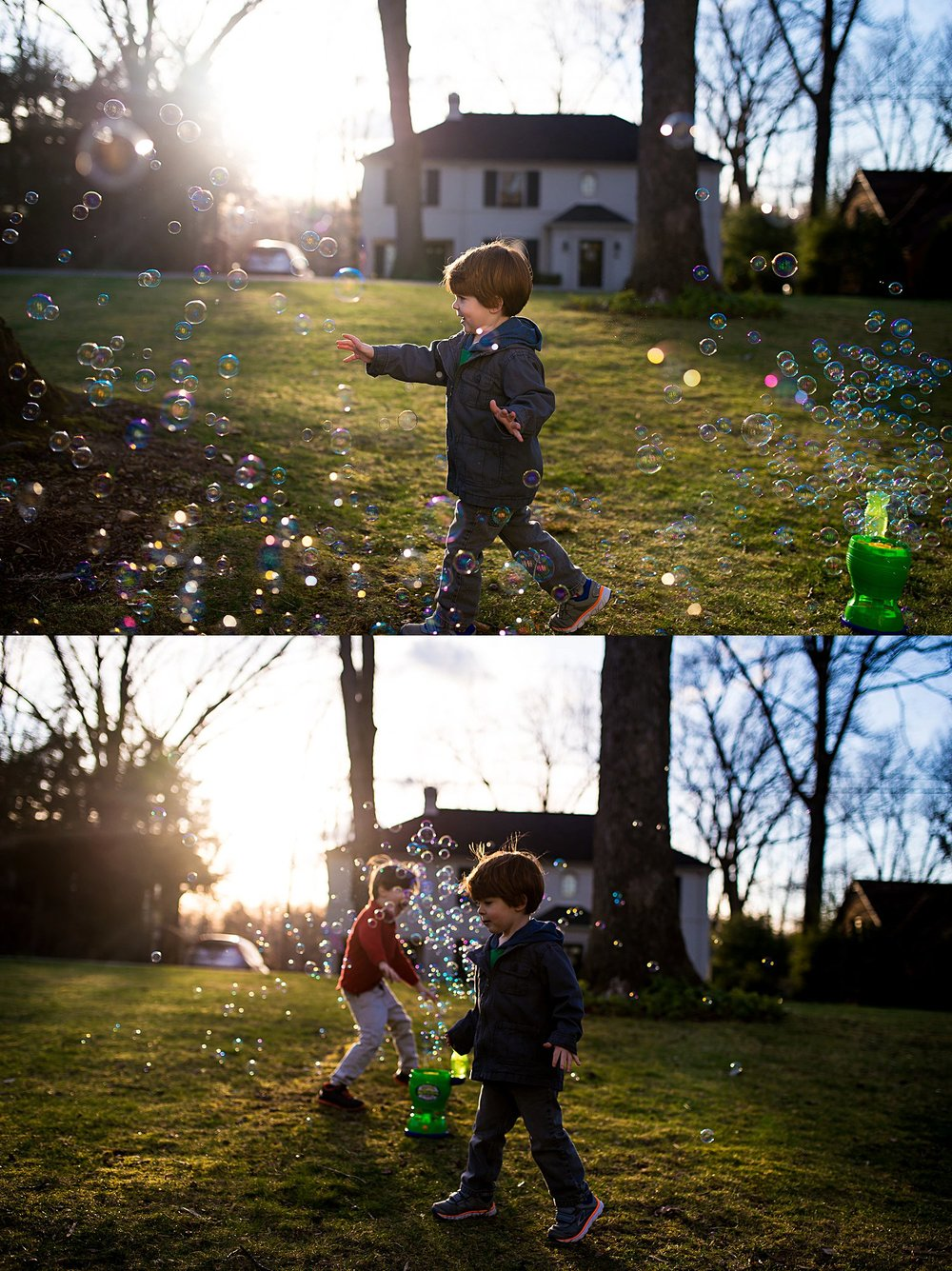 greensburg family photographer bubble play