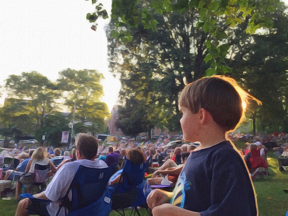 boy at outdoor concert