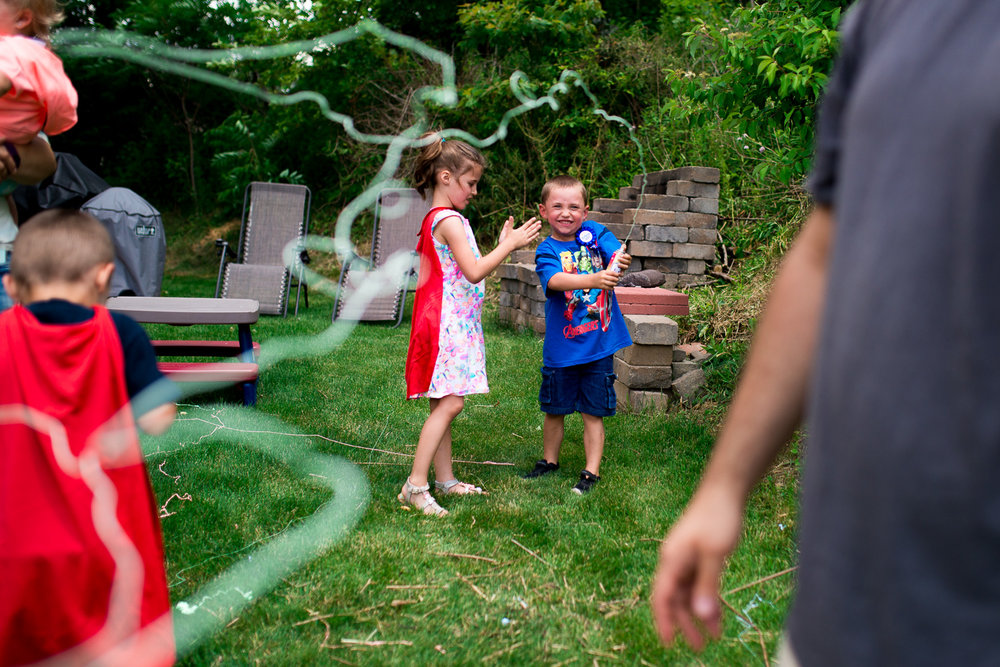 """You had a 5th birthday fit for an almost-kindergartener, with friends, family, games, and of course, silly string!"""