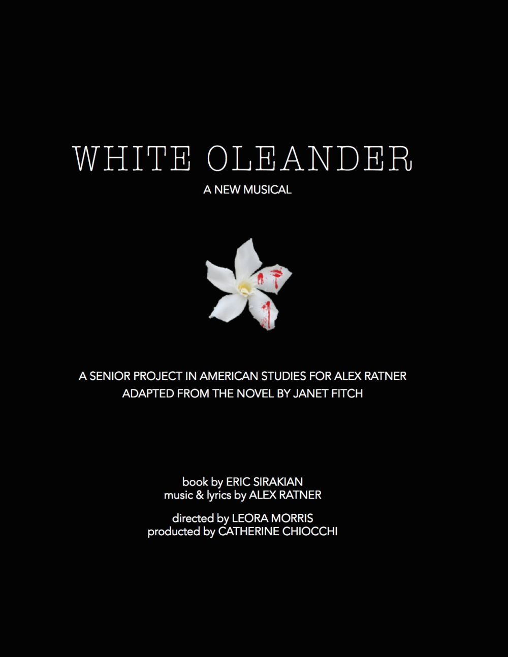 WhiteOleander2015Poster
