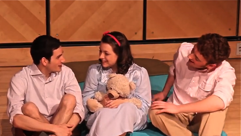 Buddy ( Richard Miron ), Young Franny ( Molly Sinnott ) and Seymour ( Tommy Bazarian ).