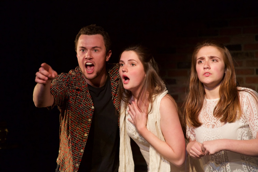 Barry ( Jacob Osborne ), Ingrid ( Caroline Rouse ) and Astrid ( Sarah Chapin ).