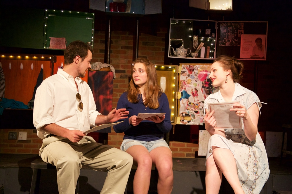 Ron ( Jacob Osborne ), Astrid ( Sarah Chapin ) and Claire ( Lucy Fleming ).