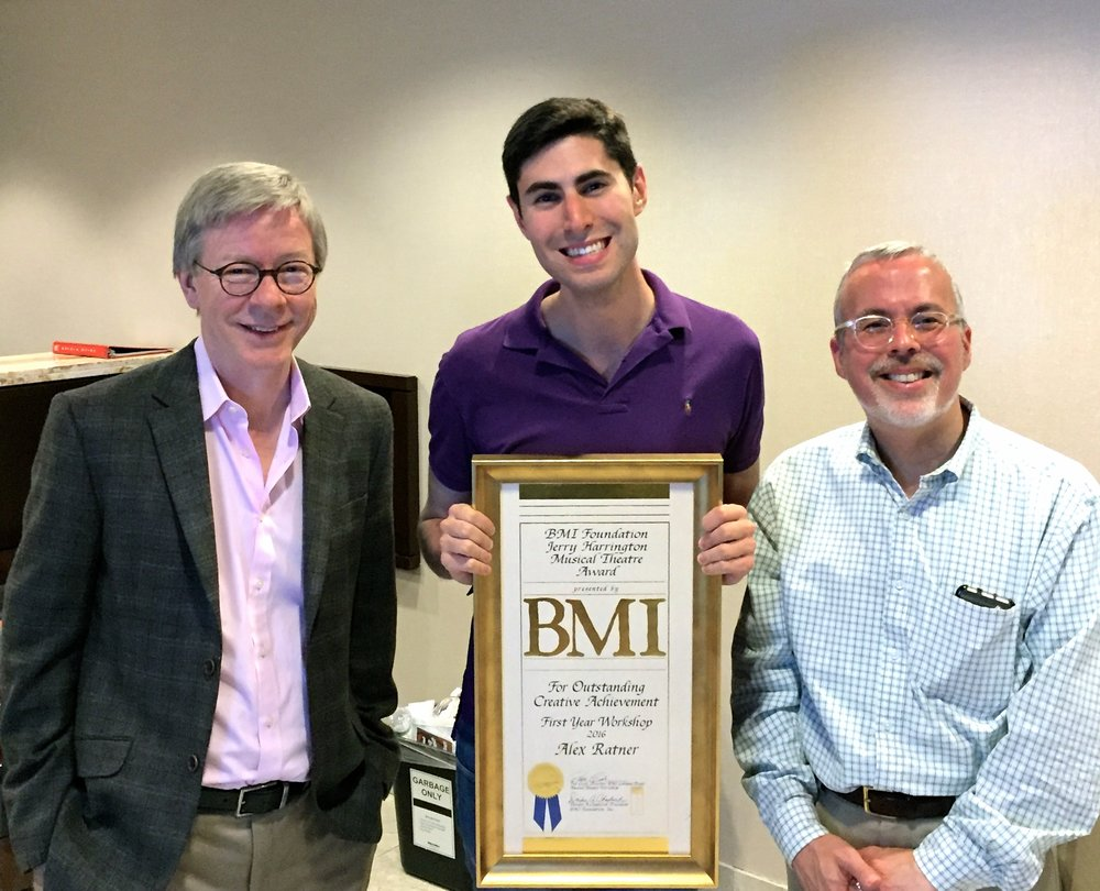 Alex receiving the Jerry Harrington Award for his work in the BMI Workshop, June 2016.