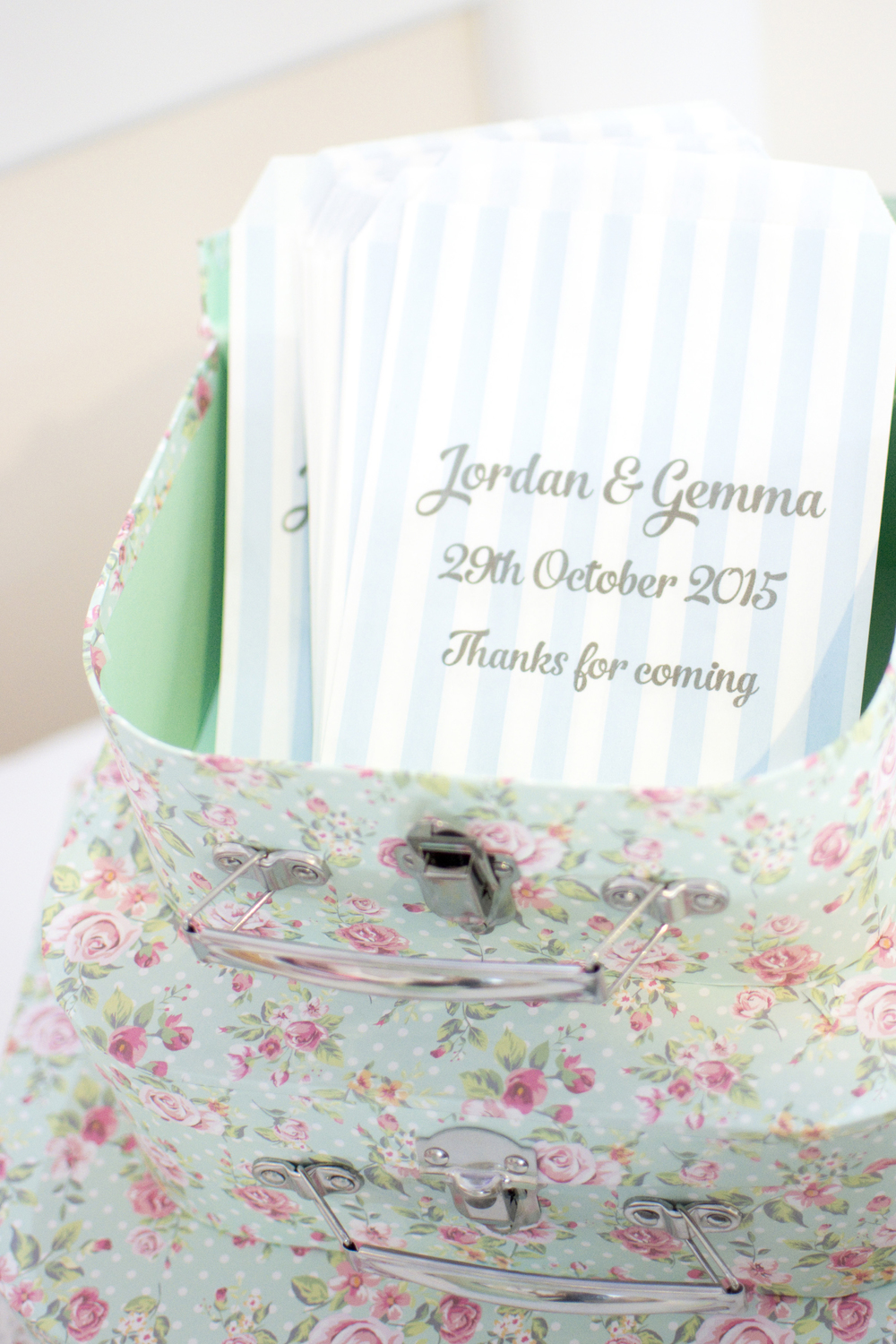 personalised sweetie bags at The GreenBank Hotel Falmouth