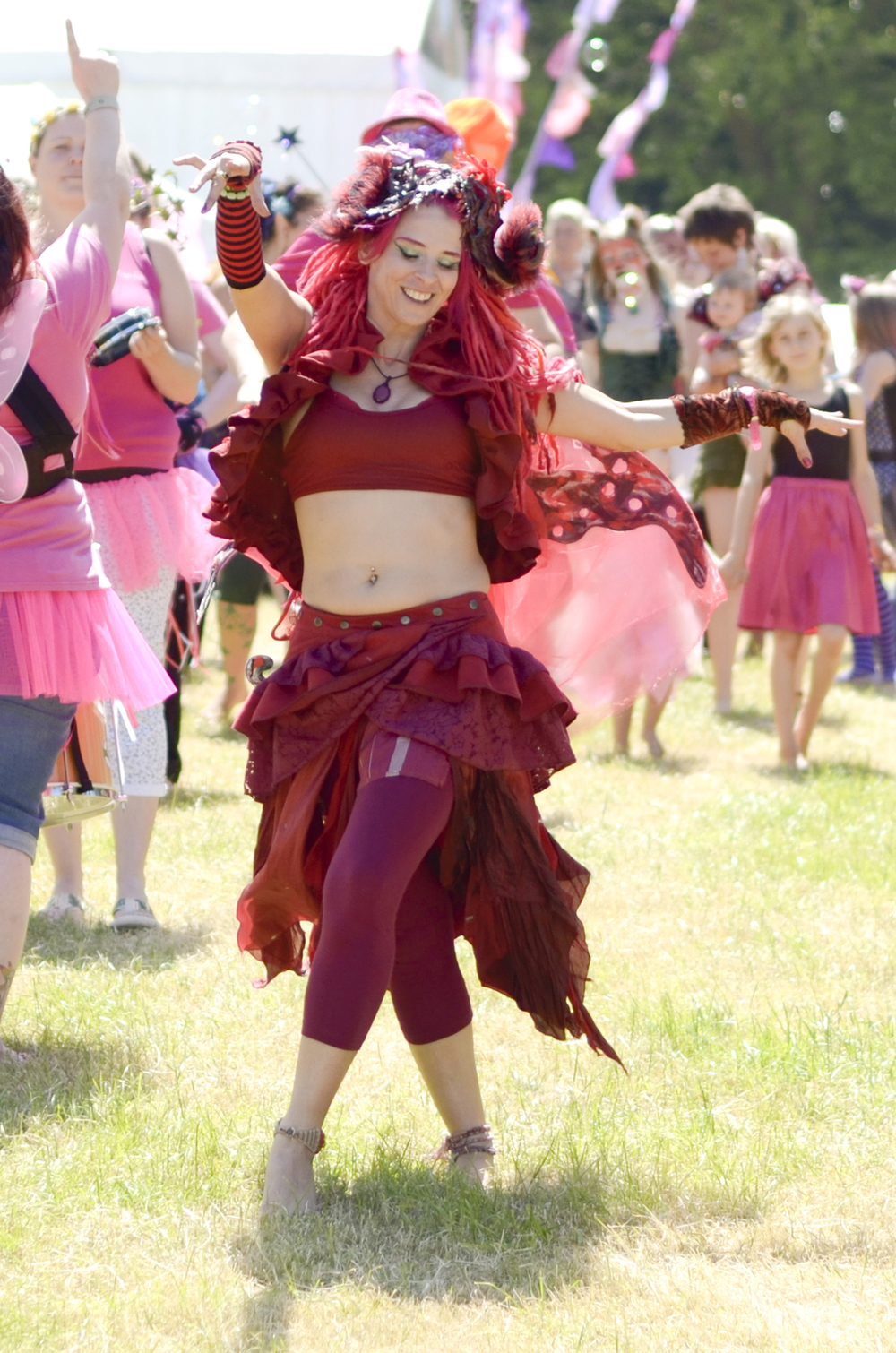 The festival's opening celebrations are such a blast! Here is the wonderful  Felicity Fairy  leading the parade.