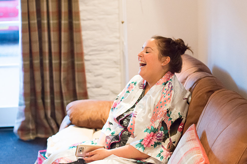 bride belly laughing truro cornwall