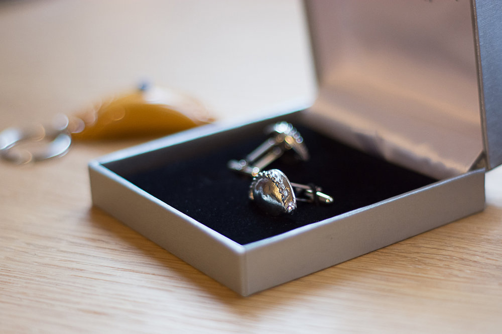 cornish pasty cufflinks at cornish wedding