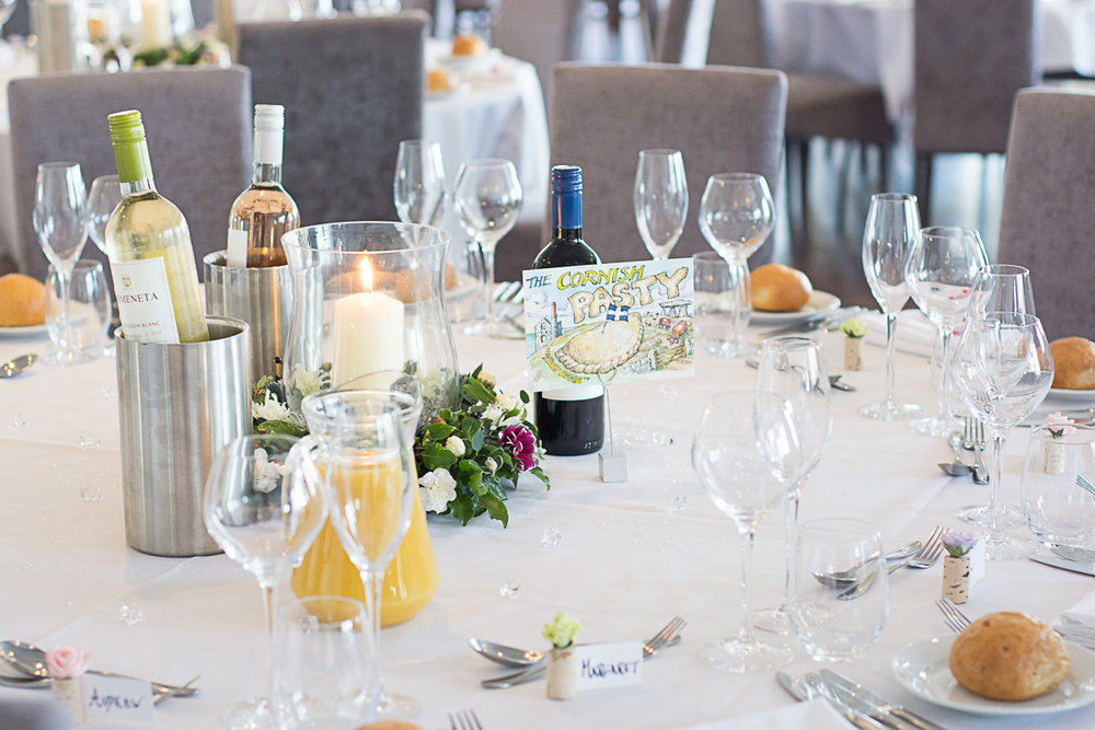 table layout at the carbis bay hotel