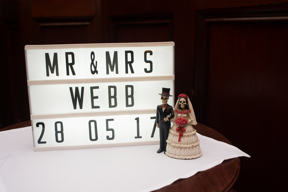Mr and Mrs Webb sign at the Atlantic Hotel Newquay