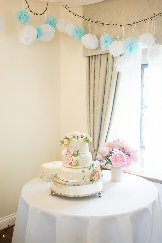 beautiful cake made by mum at boringdon hall plymouth wedding
