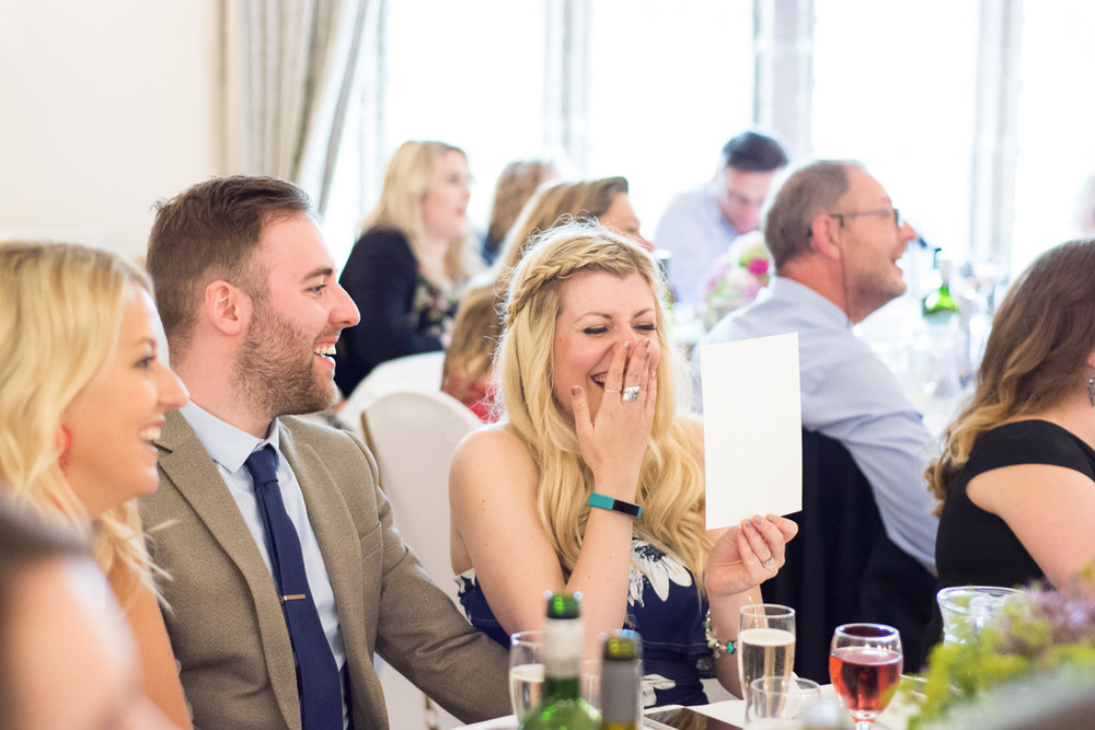 embarrassing photos shared during speeches at boringdon hall wedding