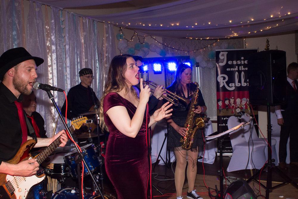 Jessica and the Rabbits - amazing band at Boringdon Hall Plymouth wedding