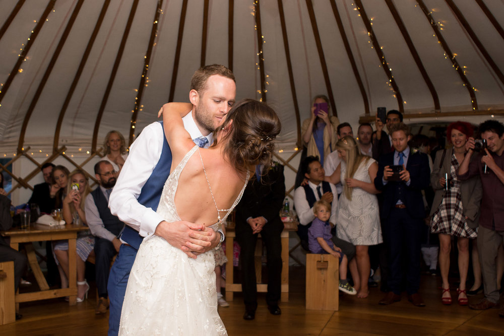 first dance at wedding yurts wedding in leicestershire